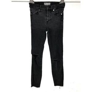 Madewell High Riser Skinny Jeans Sz 24 Gray Black